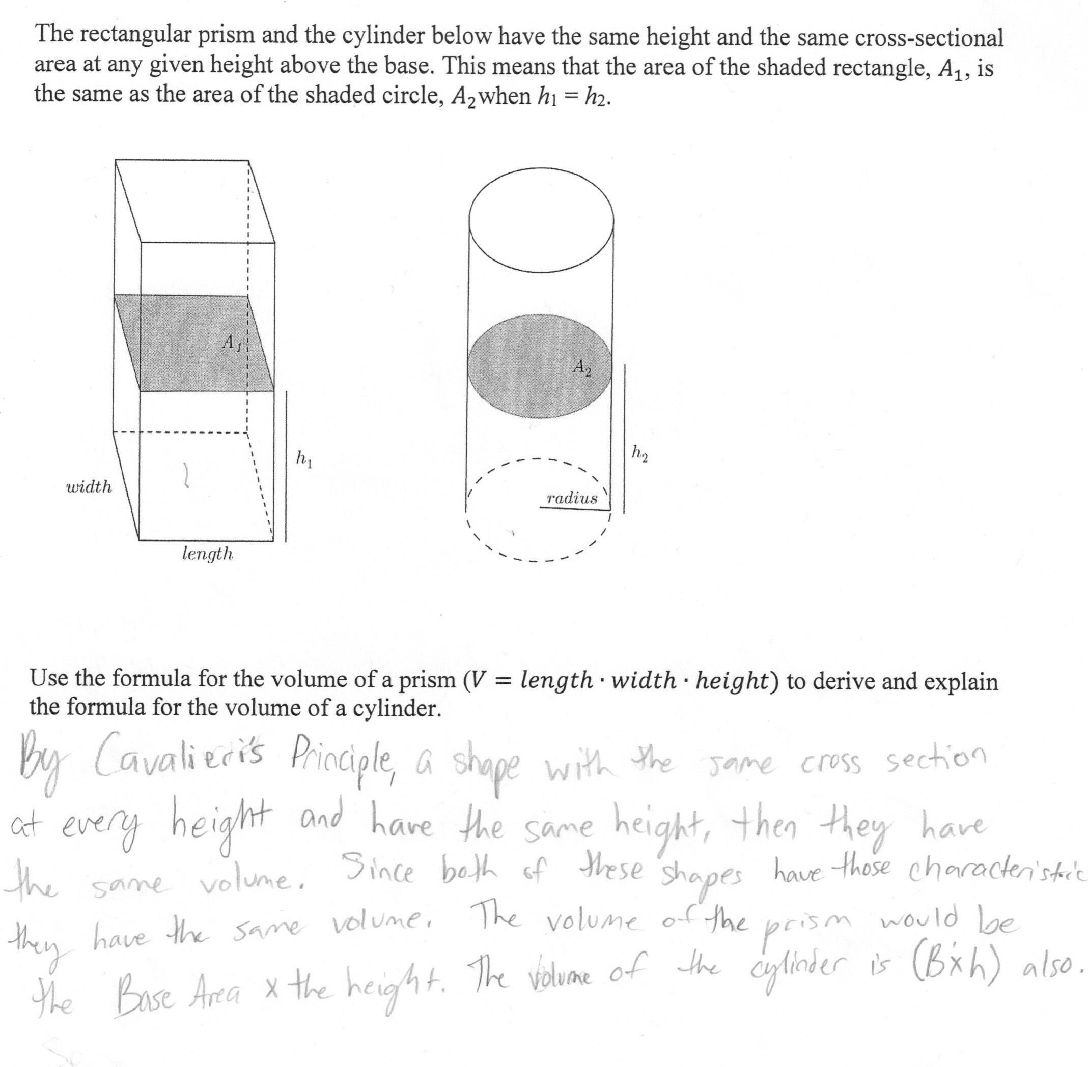 Volume Of A Cylinder Worksheet
