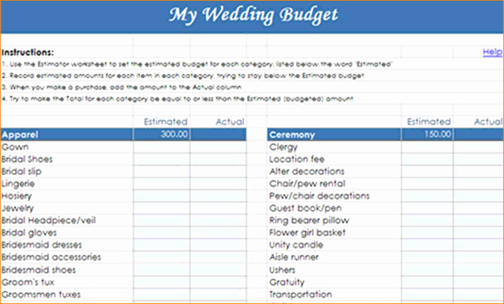 Wedding Budget Spreadsheet For Mac How To Make Your Own