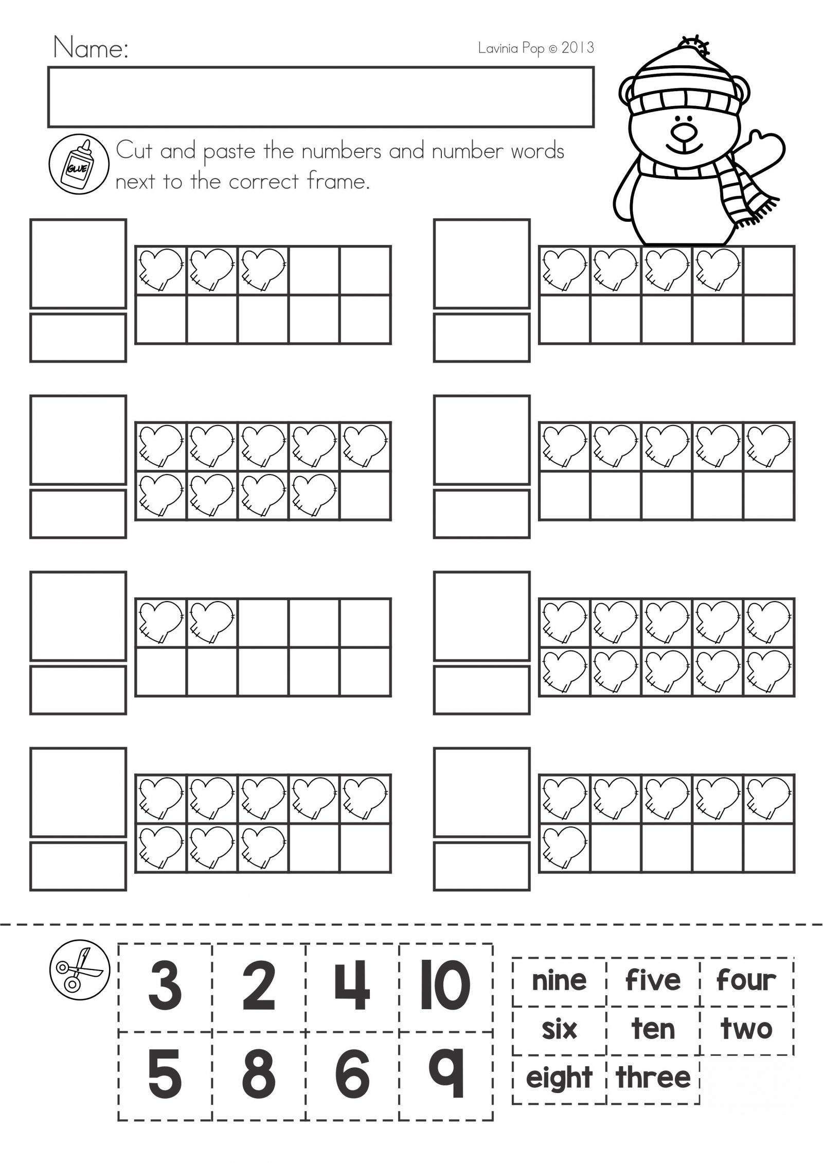 Winter Worksheets Fun In Ft Math 3rd Grade Snowmanadd