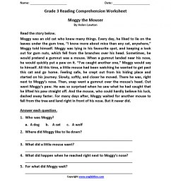 Dworksheet 3rd Grade Reading Comprehension Printable   Printable Worksheets  and Activities for Teachers [ 1864 x 1440 Pixel ]