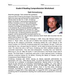Reading Comprehension Worksheets Grade 8   Printable Worksheets and  Activities for Teachers [ 1325 x 1024 Pixel ]