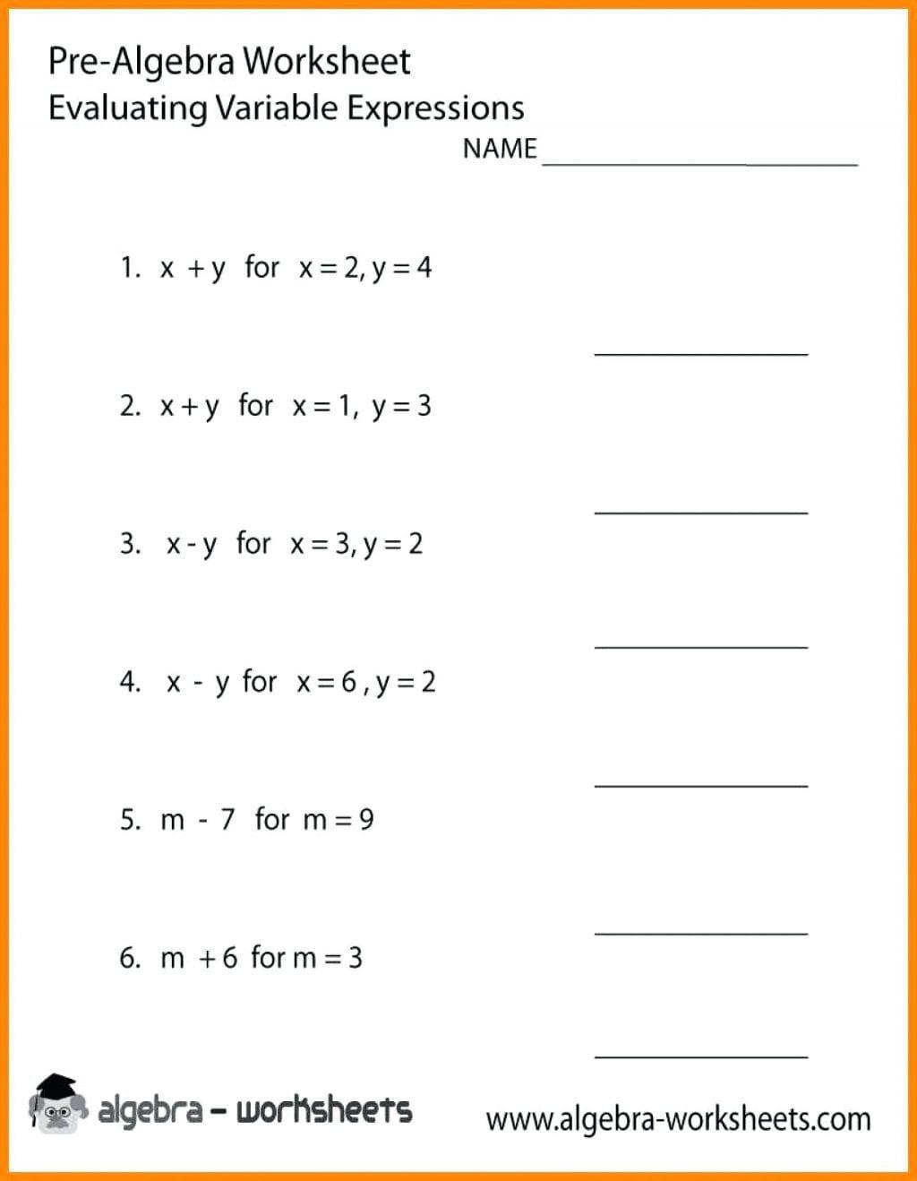 Worksheet Ideas Basic Algebra Worksheets Equations