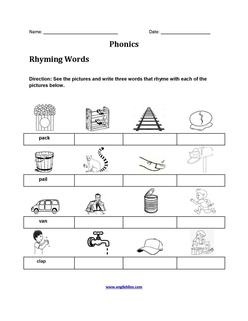 Phonics Worksheets For Adults