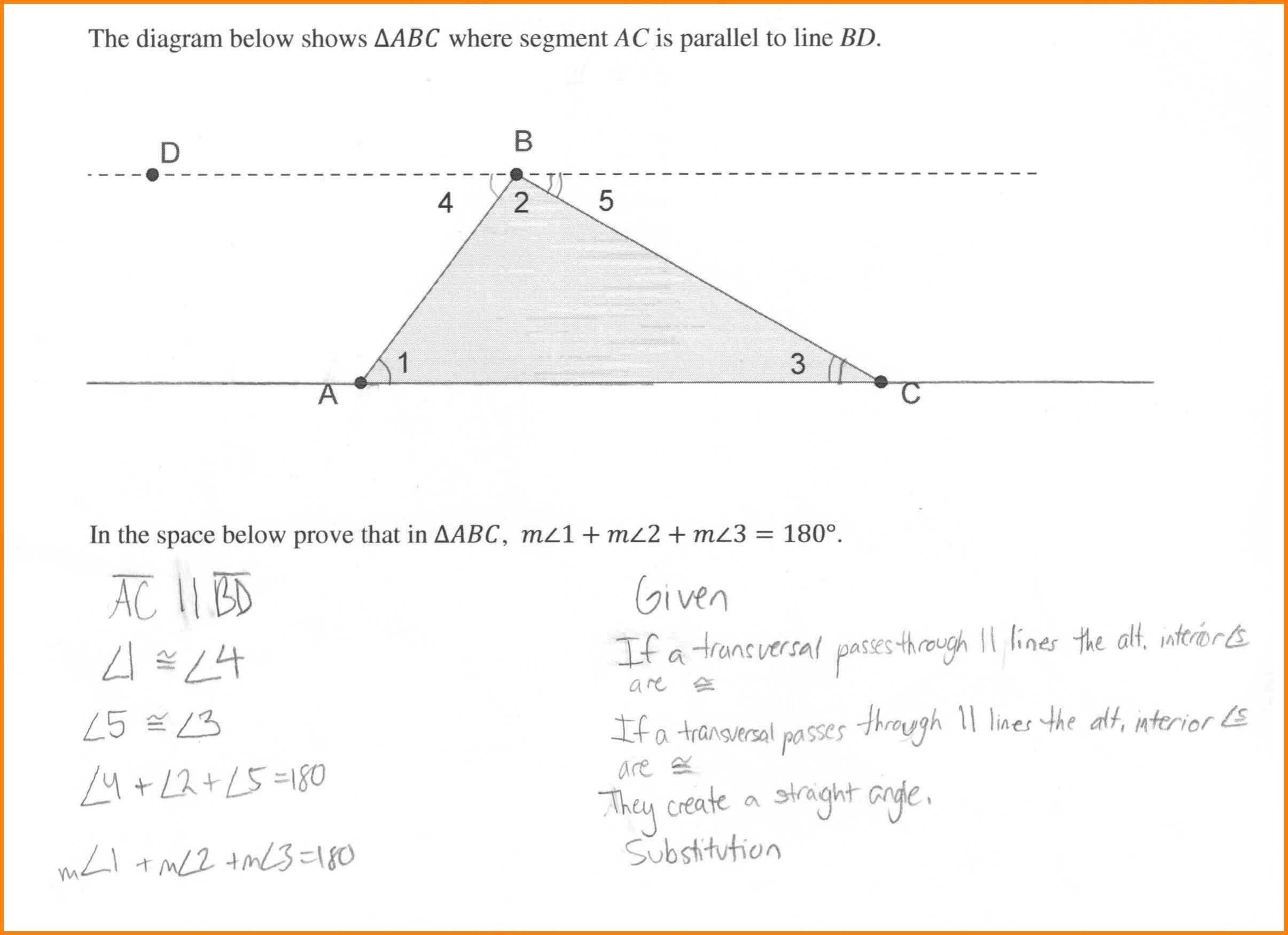 Worksheet Triangle Sum Theorem Worksheet Triangle Interior