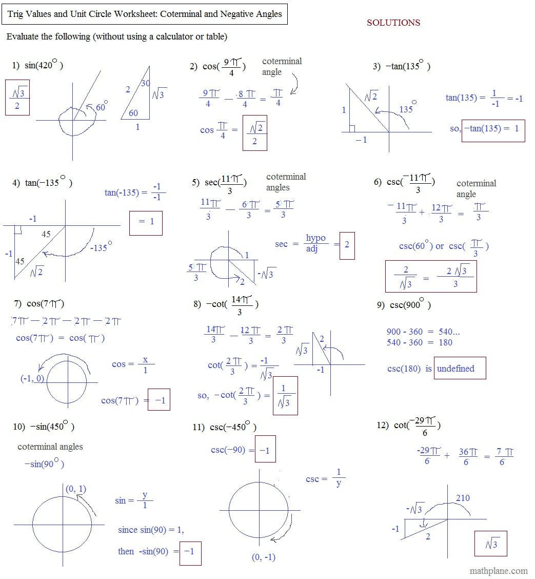 Worksheet Trigonometric Ratios Worksheet Calculating Angle