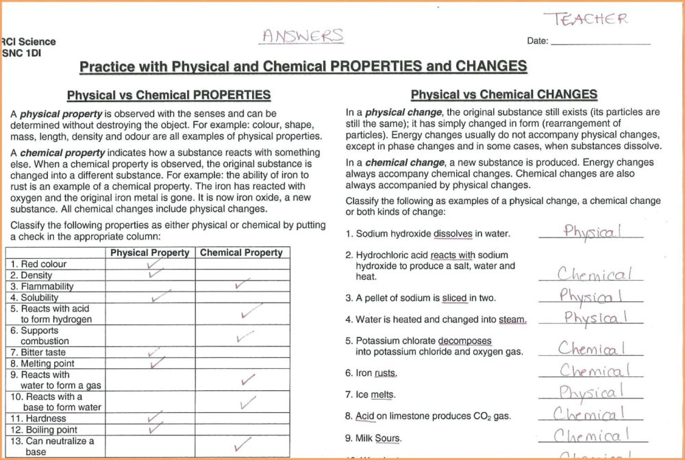 medium resolution of Brainpop Chemical And Physical Changes Worksheet   Printable Worksheets and  Activities for Teachers
