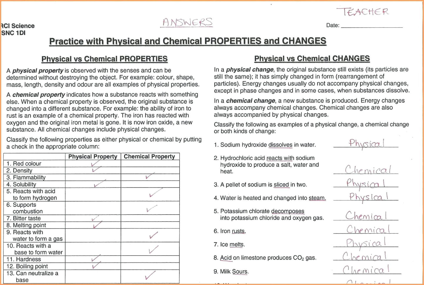 hight resolution of Brainpop Chemical And Physical Changes Worksheet   Printable Worksheets and  Activities for Teachers