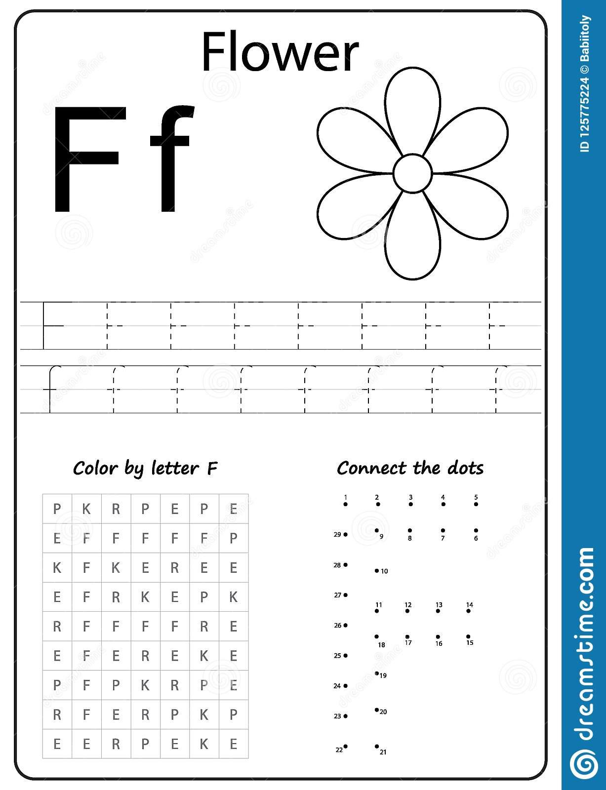 Writing Letter F Worksheet Writing Az Alphabet Exercises