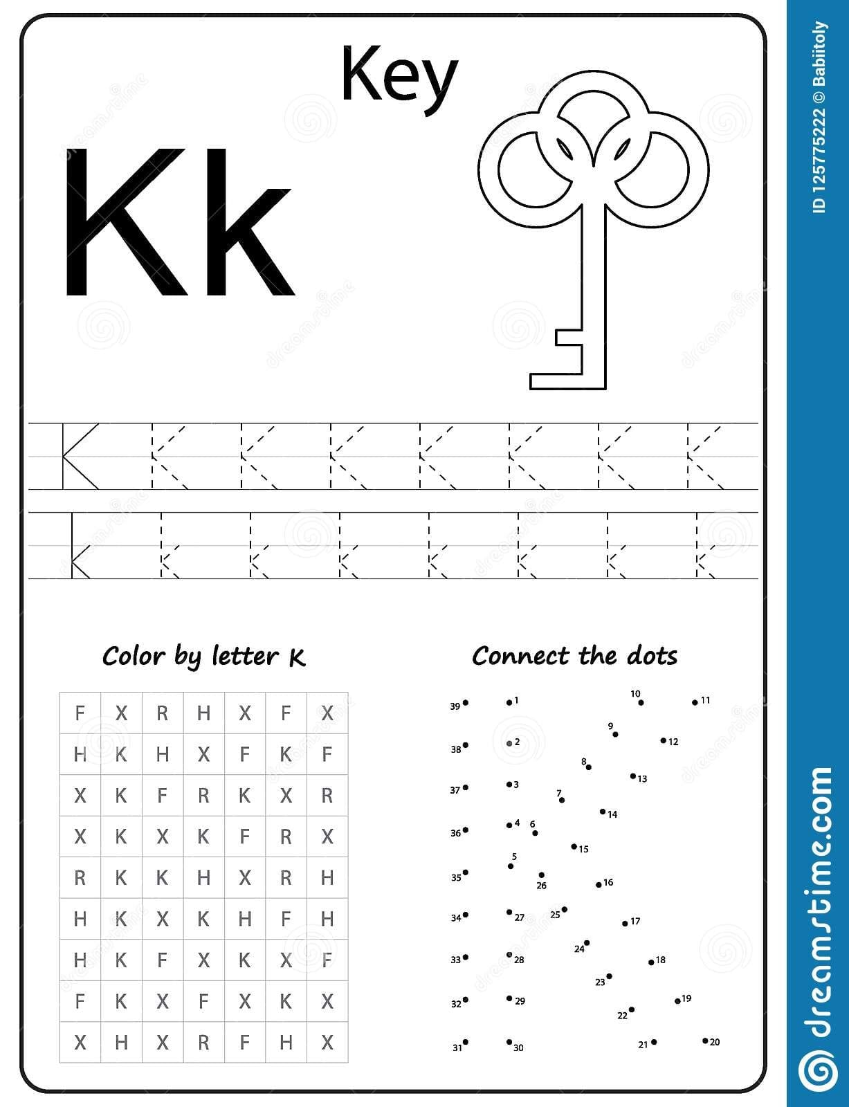 Letter K Worksheets For Kindergarten