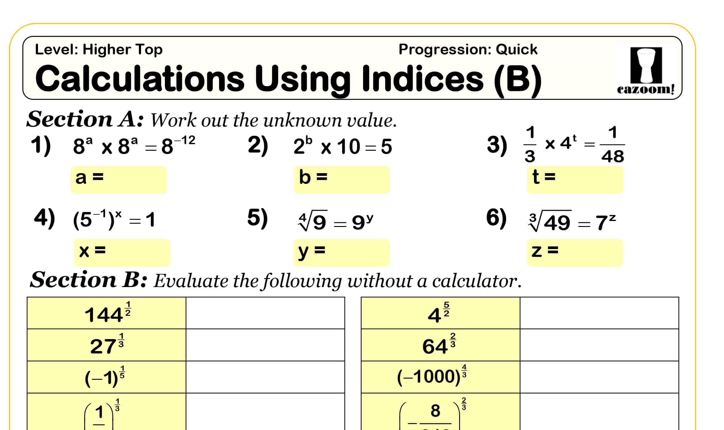 Grade 10 Algebra Worksheets