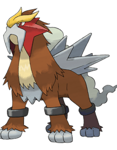 Entei official artwork also pokemon go stats moves counters cp and iv charts rh db pokemongohub