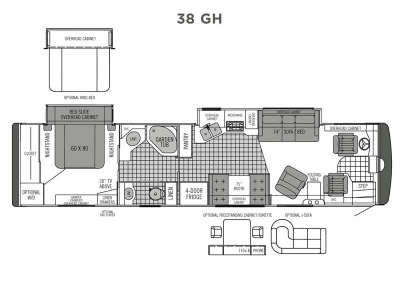 2006 Tiffin Phaeton 38 GH Floorplan