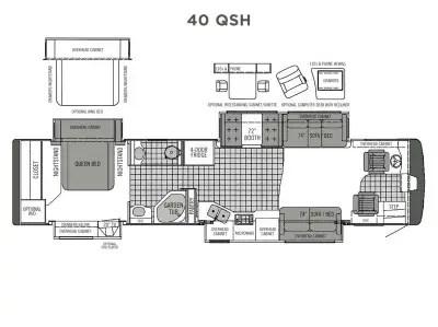 2006 Tiffin Phaeton 40 QSH Floorplan