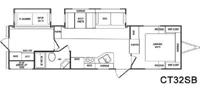 2007 CrossRoads RV Cruiser CT32SB Floorplan