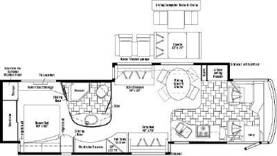 2007 Itasca Horizon 40TD Floorplan