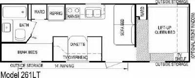 2007 Skyline Aljo Lite 261LT Floorplan