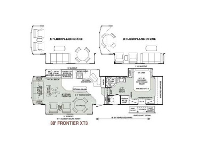 2007 Teton Homes Experience 39' Frontier XT3 Floorplan