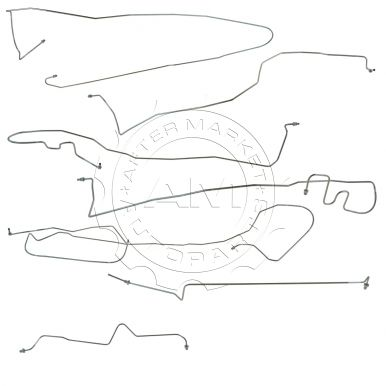 2002-2002 Chevy Avalanche 1500 Stainless Steel Brake Line