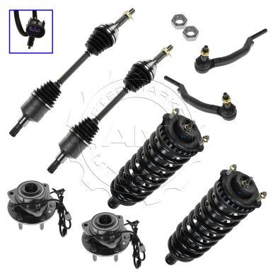 2005-2009 Saab 9-7X 8 Piece Set Steering & Suspension Kit