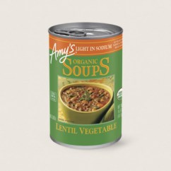 Amy's Kitchen Soup Cabinets San Diego Amy S Organic Light In Sodium Lentil Vegetable