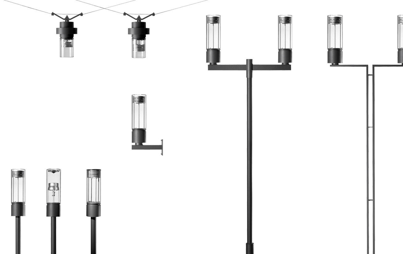 Hess Residenza Led Area Street Light Fittings By Form And