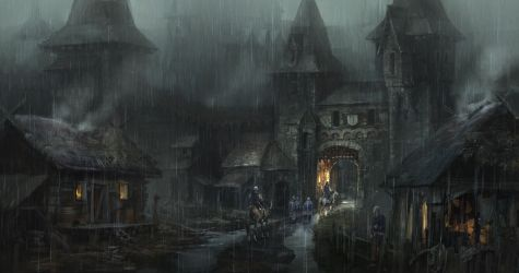 Dark Medieval Fantasy Town