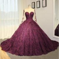2017 New High-end Wedding Dress Purple Lace Wedding Dress ...