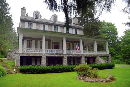 Fairbrook Manor, built in 1834, sits on a 41-acre estate in Pennsylvania Furnace in Central Pennsylvania. The property is on the market for $3.2 million.