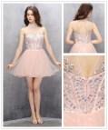 Blush Pink Short Homecoming Dresses