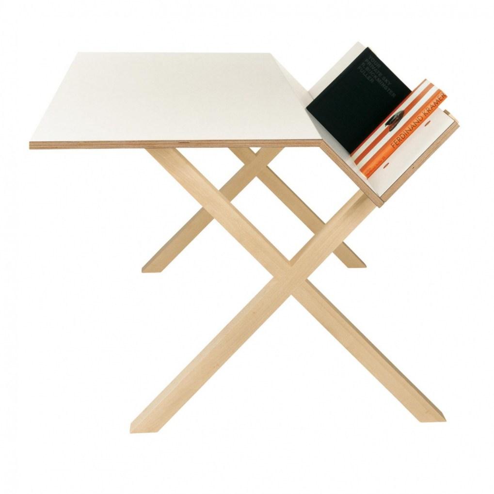 Moormann - Kant Desk/Home Desk - white RAL 9016/laminate/140x85,5x74cm