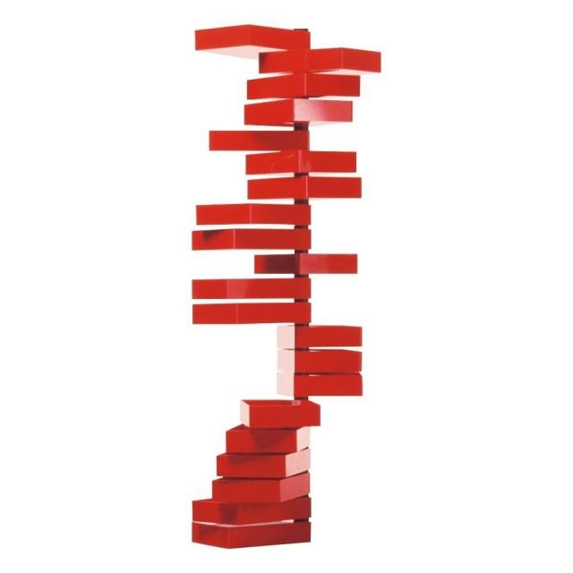 Cappellini - Revolving Cabinet - Semainier - rouge/brillant/36x25x185cm/20 tiroirs tournants