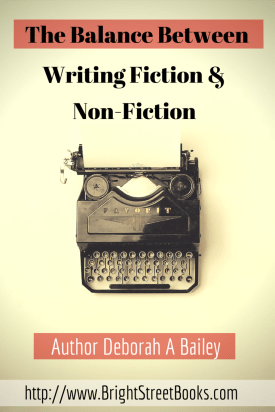 the Balance Between writing Fiction and Non-Fiction