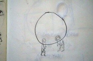 Initial thoughts: I want to create a physical virtual reality, an immersive environment that the audience enters - could this be done by building a geodesic dome that they can put their heads into (their experience only existing in that moment rather than looking at it from outside as an observer?)