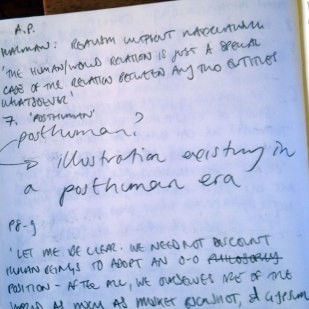 """""""Illustration existing in a Posthuman era"""" - not quite sure what I mean but have made a note of it because it coul dbe an interesting topic to explore in a post MA era?"""