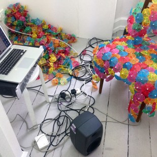 First foray into sound systems, cabling inhabiting the reef as the chemical symbiotic relationship grows
