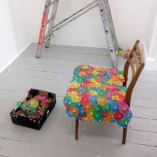 hatchery, chair in progress