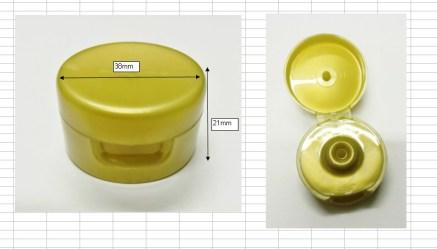 flip cap tube gold120ml ฝา flip tube ทอง3.8 ฝาป๊อกแป๊กทอง ศก.3.8ซม. Fr0005-120ml