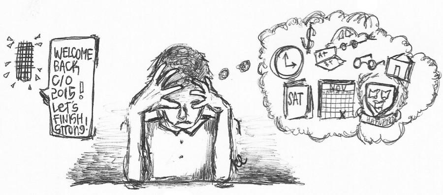The Bull's Eye : Seriously Satirical: Senior Stress