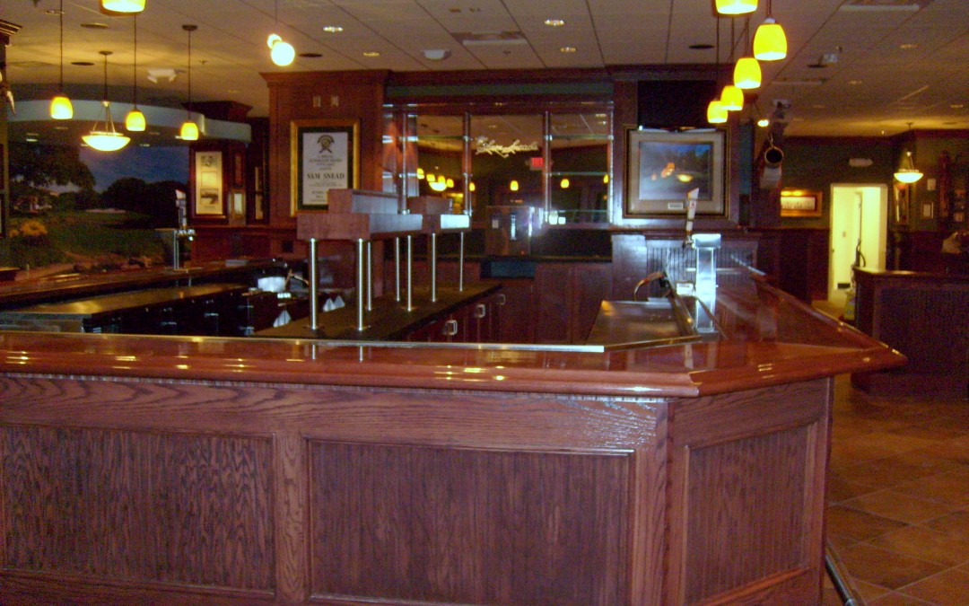 Wood bar front with wood top  DBC Millwork