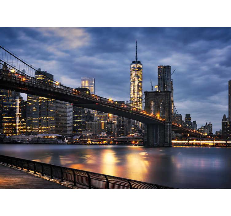 new york +1 212 813 8876. New York City Lights Wall Mural Tenstickers