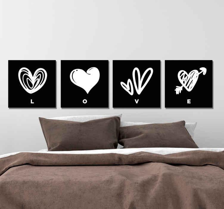 Buongiorno, sono in difficoltà con la camera da letto: Quadro Camera Da Letto Matrimoniale Cuori Tenstickers