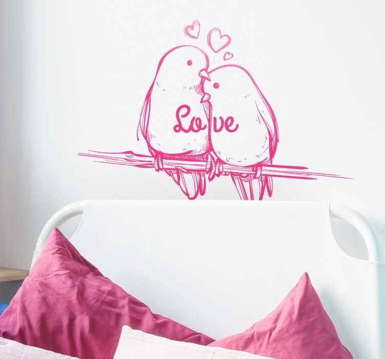 La cosa più difficile è sceglierle! Adesivo Testiera Ikea Uccellini Innamorati Tenstickers