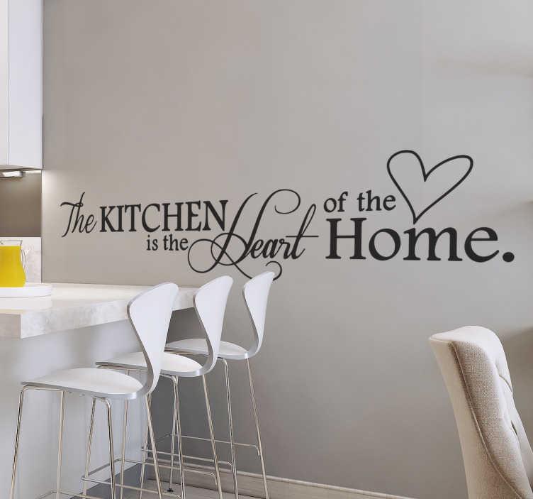Le persone dall'animo romantico e sognatore amano particolarmente la carta da parati con poesie. Adesivo Per Cucina Heart Of The Home Tenstickers