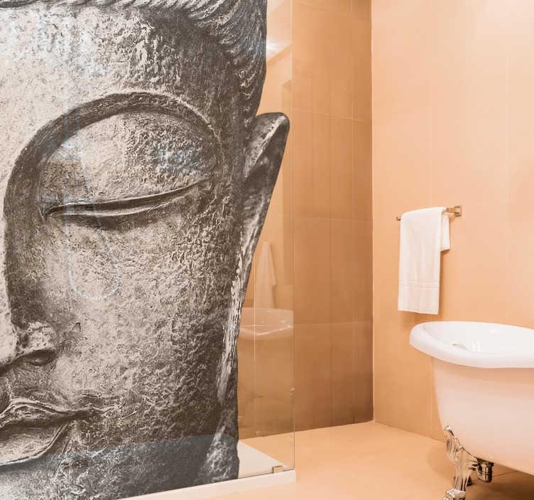 adhesif paroi de douche tete de bouddha