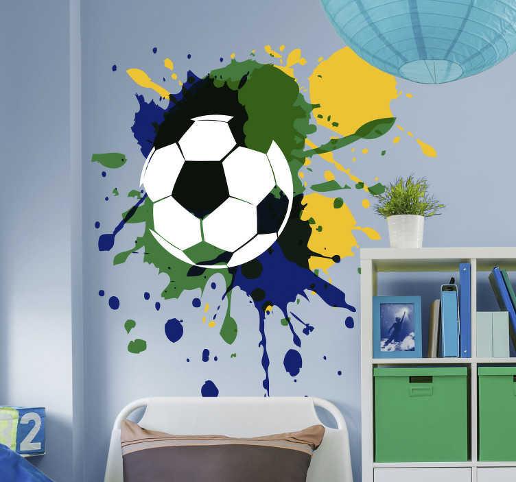 Muurstickers kinderkamer voetbal graffiti  TenStickers