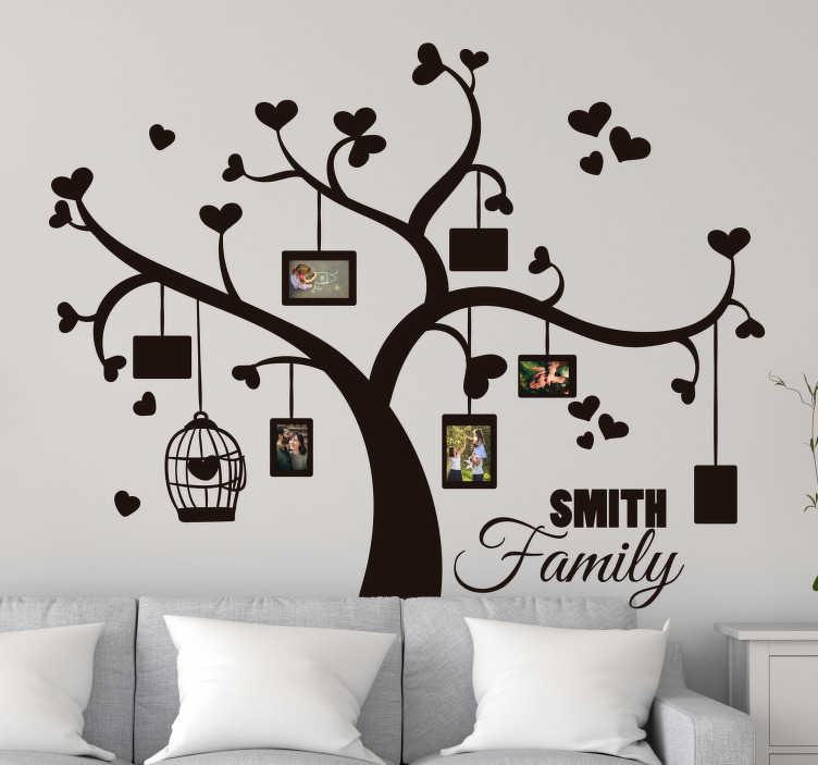 Heart Family Tree Wall Sticker Tenstickers