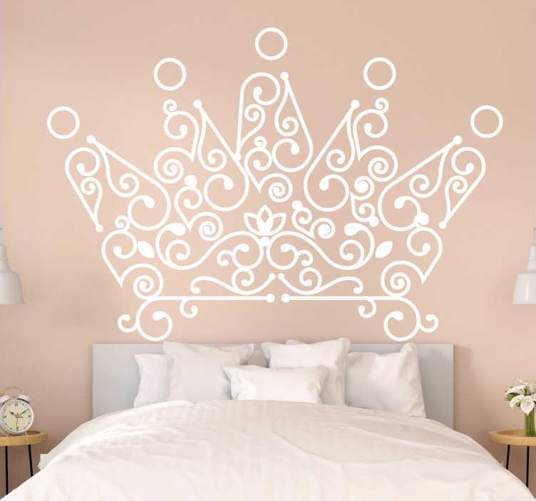 Per adesivi murali camera da letto. Adesivo Da Parete Testiera Della Corona Tenstickers
