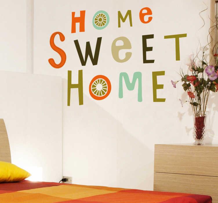 home sweet home aufkleber