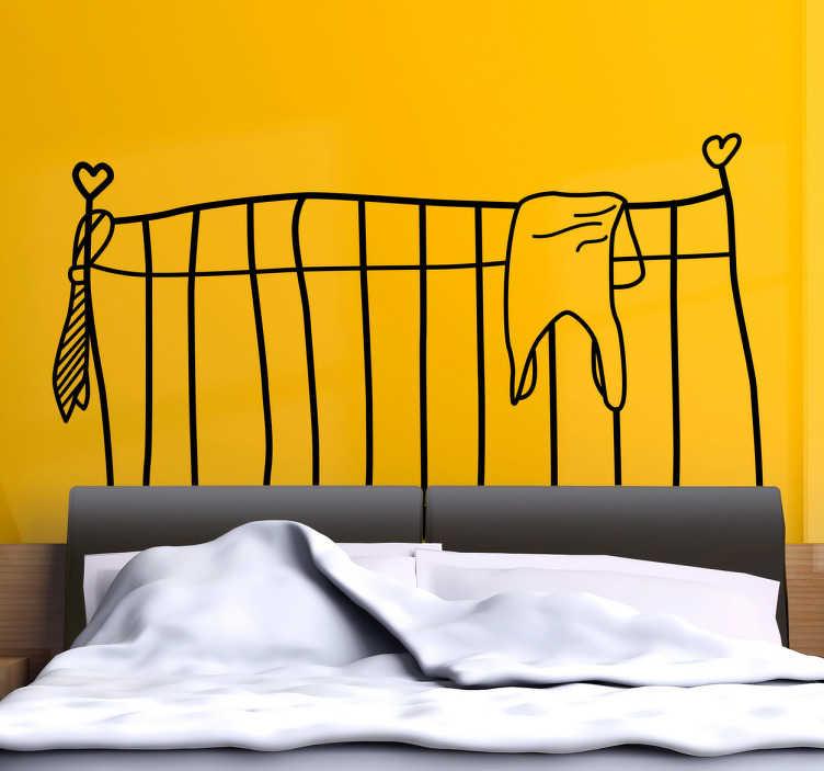 sticker mural tete de lit originale