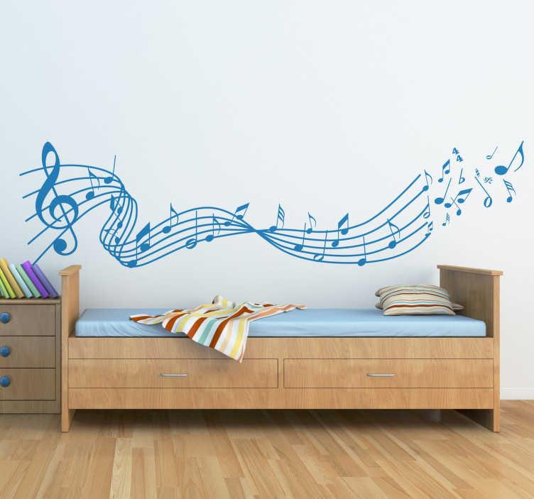 Adesivi murali con note musicali per decorare e dare più fascino alla parete della vostra camera da letto o soggiorno. Adesivi Murali Musica Ideali Per Creare Armonia Tenstickers